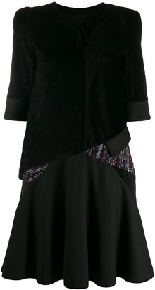 Talbot Runhof Tourmaline embellished mini dress