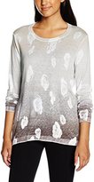 Gerry Weber Women's Leaf Pattern Print Long Sleeve Jumper,(Manufacturer Size:36)