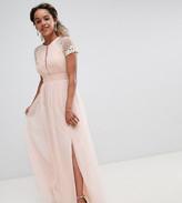 Little Mistress Petite embellished bodice maxi dress