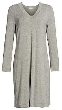 Hanro Women's Champagne Long Sleeve Sleep Dress
