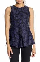 KENDALL + KYLIE Women's Lace Peplum Top