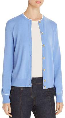 Tory Burch Contrast-Trimmed Cashmere Cardigan