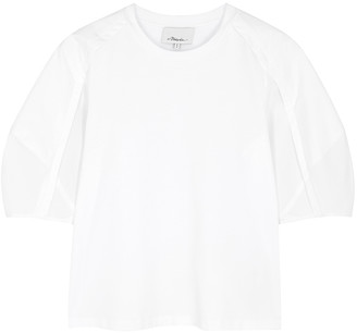 3.1 Phillip Lim White Puff-sleeve Cotton T-shirt
