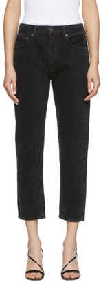 A Gold E Agolde AGOLDE Black Parker Easy Straight Jeans