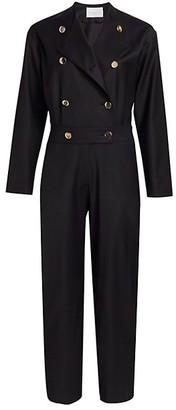 Carolina Ritzler Double Breasted Wool Jumpsuit