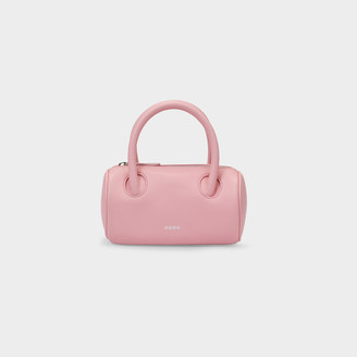 Abra Cylinder Bag In Pink Leather