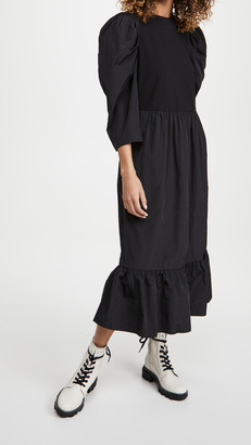 Sea Nadja Taffeta Combo Midi Dress