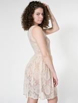 American Apparel China Lace Sleeveless Dress