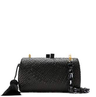 Serpui Marie straw clutch bag