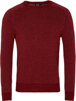 Oxford Isac Patterned Knit Red/Gry X