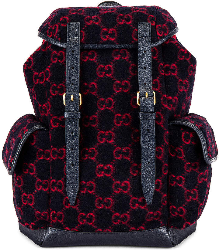 Gucci Backpack in Blue & Red & Black | FWRD