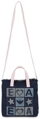 Emporio Armani Denim Shoulder Bag W/ Patches