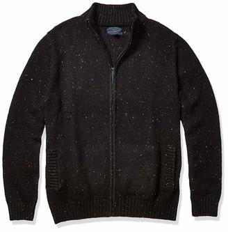 Lucky Brand Men's Donegal Full Zip Mock Neck Sweater
