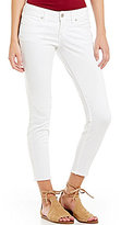 Silver Jeans Co. Berkley Skinny Frayed Hem Super-Stretch Ankle Jeans