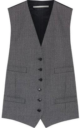 Stella McCartney Violet Melange Wool And Jacquard Vest