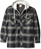 Dickies Men's Relaxed Fit Hooded Yarn Dye Plaid Shirt Jacket