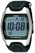 Lorus R2335ex9 Rectangular Digital Rubber Strap Sports Watch, Black