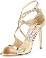 Jimmy Choo Lang Metallic Strappy Sandal, Gold