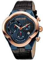 roberto cavalli watches men shopstyle men s roberto cavalli by franck muller clover chronograph leather strap watch