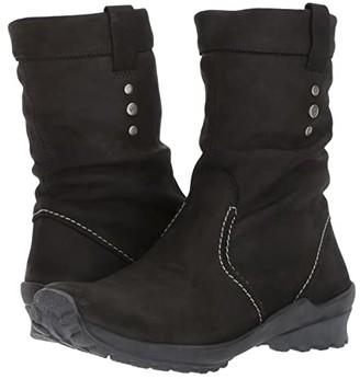 Wolky Bryce Waterproof (Black Nepal Oiled Leather) Women's Waterproof Boots