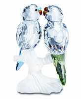 Swarovski Collectible Figurine, Feathered Beauties Friends Budgies