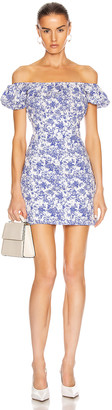 Caroline Constas Calla Mini Dress in Blue | FWRD