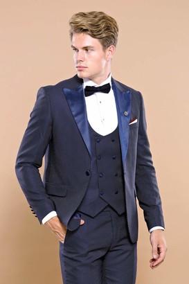 Wessi Men's Slimfit Smoking Mit Abnehmbarem Revers Tuxedo
