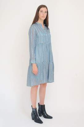 Levete Room - Gabrielle Dress In Blue - XS