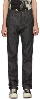 Rick Owens Black Raw Detroit Jeans