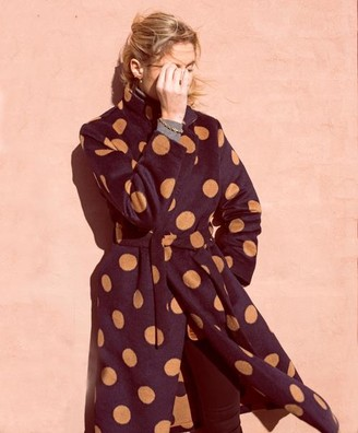 Saint Tropez Polka Dot Wrap Coat - S