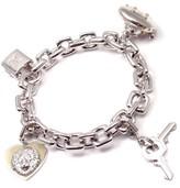 Louis Vuitton 18K White Gold Charm Link Bracelet