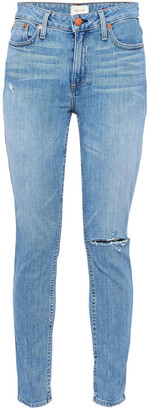 Alice + Olivia High-rise Distressed Skinny Jeans