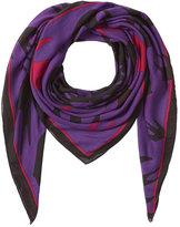 McQ by Alexander McQueen Swallow Swarm Printed Scarf