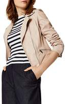 Karen Millen Summer Leather Biker Jacket