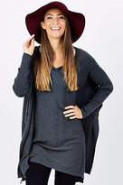NEW Wite Womens Ponchos Layefette Knit Charcoal