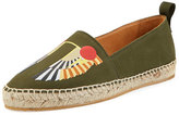 Givenchy Men's Wing Canvas Espadrille, Olive