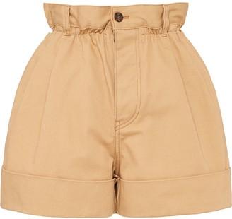 Miu Miu Drill high-waisted shorts