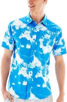 JCPenney NOVELTY SEASON Cloud Cover Short-Sleeve Woven Shirt