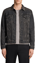 AllSaints Bannock Denim Jacket, Jet Black
