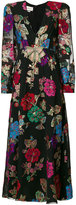 Gucci embroidered floral dress - women - Silk/Polyester/Acetate/Metallic Fibre - 42