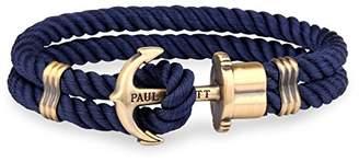 PAUL HEWITT Men Anchor Bracelet PHREP with Nylon Bracelet in Navy Blue und Anchor Made of Brass PH-PH-N-N-XXL