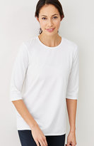 J. Jill Pure Jill Stretch-Cotton Ballet-Sleeve Tee