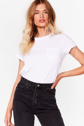 Nasty Gal Womens Pocket It Up Pocket It in Relaxed Tee - Black - S