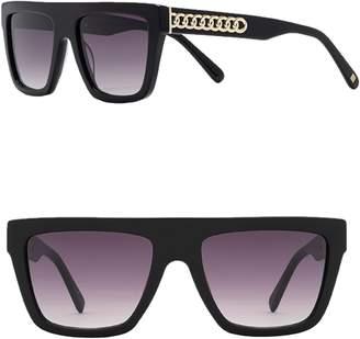 Carolina Lemke Serena 55mm Flat Top Sunglasses