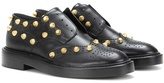 Balenciaga Studded Leather Derby Shoes