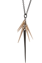 Marion Cage Rose Gold Point Cluster Pendant Necklace