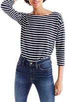 J.Crew Women's Stripe Boatneck Tee