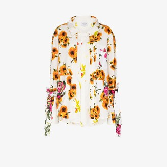 Collina Strada Kantamanto floral button-up shirt