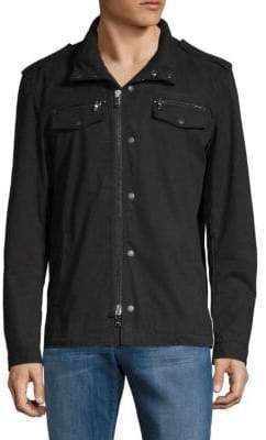 John Varvatos Front Zip Hooded Shirt
