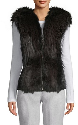 Wolfie Fur Made For Generation Fox Fur Leather Vest